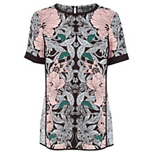 Buy Warehouse Nouveau Print Top, Multi Online at johnlewis.com