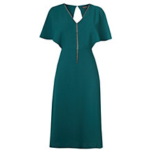 Buy Warehouse Diamante Open Back Dress, Dark Green Online at johnlewis.com