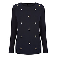 Buy Warehouse Dragonfly Embellished Jumper Online at johnlewis.com