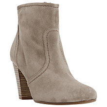 Buy Dune Portia Stacked Heel Ankle Boot Online at johnlewis.com
