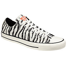 Buy Converse Chuck Taylor All Star Ox Sketchbook Trainers, White/Black Online at johnlewis.com
