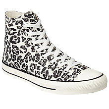 Buy Converse Chuck Taylor All Star Hi Top Sketchbook Trainers, White/Black Online at johnlewis.com