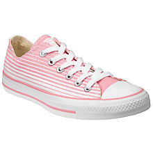 Buy Converse Chuck Taylor All Star Canvas Ox Low-Top Trainers, Pink/White Online at johnlewis.com