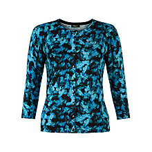 Buy Precis Petite Floral Print Cardigan, Navy Online at johnlewis.com