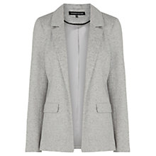 Buy Warehouse Tailored Ponte Jacket, Light Grey Online at johnlewis.com