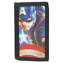 Buy Marvel Captain America Wallet, Black Online at johnlewis.com