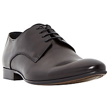 Buy Dune Rembrandt Plain Toe Derby Shoes, Black Online at johnlewis.com