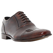 Buy Dune Rule Toecap Detail Leather Oxford Shoes, Tan Online at johnlewis.com
