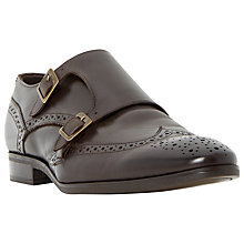 Buy Dune Renegades Leather Brogue Monk Shoes Online at johnlewis.com