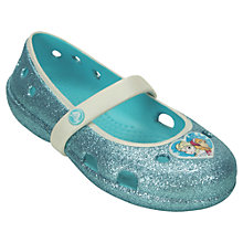 Buy Crocs Disney Frozen Keeley Flats, Blue Online at johnlewis.com