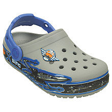 Buy Crocs Star Wars X-Wing Light-Up Clogs, Ocean Blue/Light Grey Online at johnlewis.com