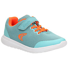 Buy Clarks Children's Sprint Zone Rip-Tape Trainers, Blue Online at johnlewis.com