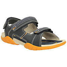 Buy Clarks Children's Mirlo Air Rip-Tape Sandals, Blue Online at johnlewis.com