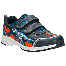 Buy Clarks Pass Stomp Pre-School Shoes, Navy Online at johnlewis.com