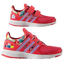 Buy Adidas Children's Hyperfast 2.0 Running Shoes, Coral/Pink Online at johnlewis.com