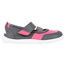 Buy Bobux Children's Vitra Rip-Tape Mary Jane Shoes, Pink/Grey Online at johnlewis.com