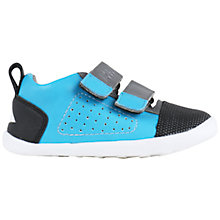 Buy Bobux Children's Arc Leather Mix Rip-Tape Shoes, Blue/Black Online at johnlewis.com