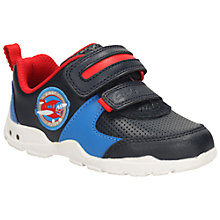 Buy Clarks Children's Brite Zap Rip-Tape Shoes, Navy Online at johnlewis.com