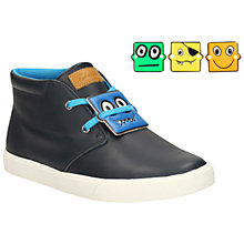 Buy Clarks Children's Club Rise Suede Baby Boots, Navy Online at johnlewis.com