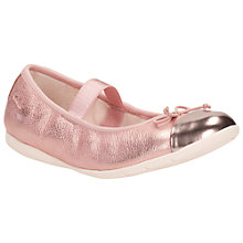 Buy Clarks Infant Dance Puff Ballet Pumps, Rose Gold Online at johnlewis.com