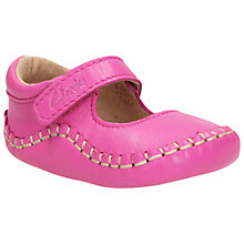 Buy Clarks Baby Lucy Rip-Tape Shoes, Pink Online at johnlewis.com