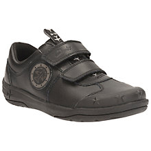 Buy Clarks Children's Jetsky Fun School Shoes, Black Online at johnlewis.com
