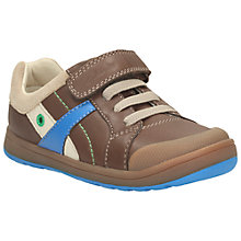 Buy Clarks Maltby Pow Rip-Tape Shoes, Brown Online at johnlewis.com