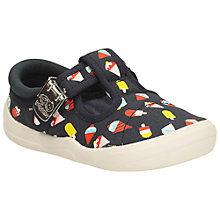 Buy Clarks Children's Briley Sky Canvas Shoes, Navy Online at johnlewis.com