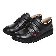Buy Kickers Children's Kick Lo Rip-Tape Shoes, Black Online at johnlewis.com