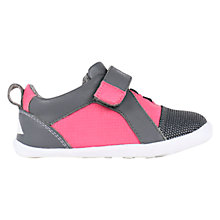 Buy Bobux Children's Gamma Leather Mix Rip-Tape Shoes, Fuchsia Online at johnlewis.com