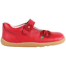 Buy Bobux Children's Wish Leather Rip-Tape Mary Jane Shoes, Red Online at johnlewis.com