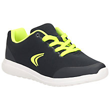 Buy Clarks Children's Sprint Free Lace-Up Trainers, Navy Online at johnlewis.com
