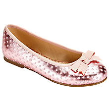 Buy John Lewis Star Cut Pumps, Pink Online at johnlewis.com