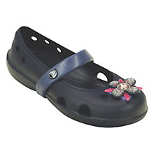 Buy Crocs Children's Keeley Springtime Flat Shoes, Navy Online at johnlewis.com