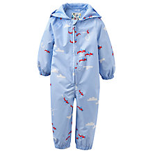 Buy Baby Joule Splash Aeroplane Puddlesuit, Blue Online at johnlewis.com