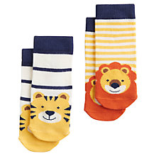 Buy Baby Joule Lion and Tiger Socks, Pack of 2, Multi Online at johnlewis.com