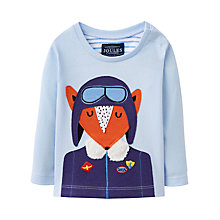 Buy Baby Joule Fox Long Sleeve T-Shirt, Blue Online at johnlewis.com
