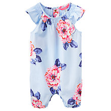Buy Baby Joule Uma Floral Print Playsuit, Blue/Pink Online at johnlewis.com
