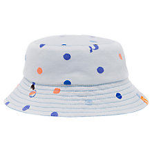 Buy Baby Joule Sunseeker Reversible Sun Hat, White/Blue Online at johnlewis.com