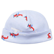 Buy Baby Joule Reversible Aeroplane Stripe Bonnet Hat, Blue/Red Online at johnlewis.com