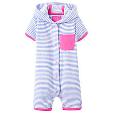 Buy Baby Joule Stripe Towelling Playsuit, Blue/White Online at johnlewis.com