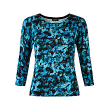 Buy Precis Petite Floral Print Jumper, Navy Online at johnlewis.com