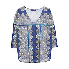 Buy Violeta by Mango Printed T-Shirt, Navy Online at johnlewis.com