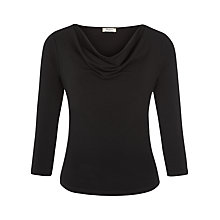 Buy Precis Petite Cowl Neck Top, Black Online at johnlewis.com