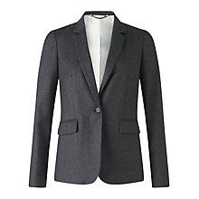 Buy Jigsaw Wool Fine Pinstripe Jacket, Charcoal Online at johnlewis.com