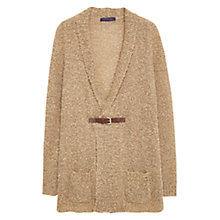 Buy Violeta by Mango Wool-Blend Cardigan, Medium Brown Online at johnlewis.com