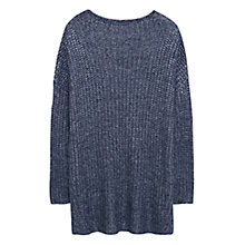 Buy Violeta by Mango Long Metallic Jumper Online at johnlewis.com