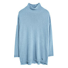 Buy Violeta by Mango Stand Collar Jumper, Aqua Online at johnlewis.com
