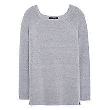 Buy Violeta by Mango Metal Thread Jumper, Pastel Grey Online at johnlewis.com