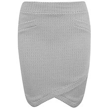Buy Miss Selfridge Wrap Mini Skirt, Grey Online at johnlewis.com